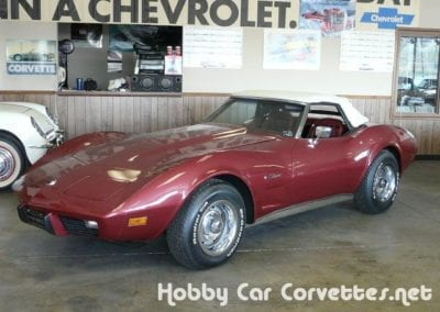 1975 Dark Red Corvette Stingray Convertible