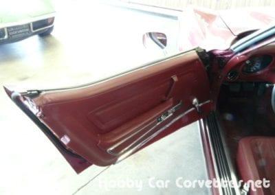 1975 Dark Red Corvette Stingray Convertible