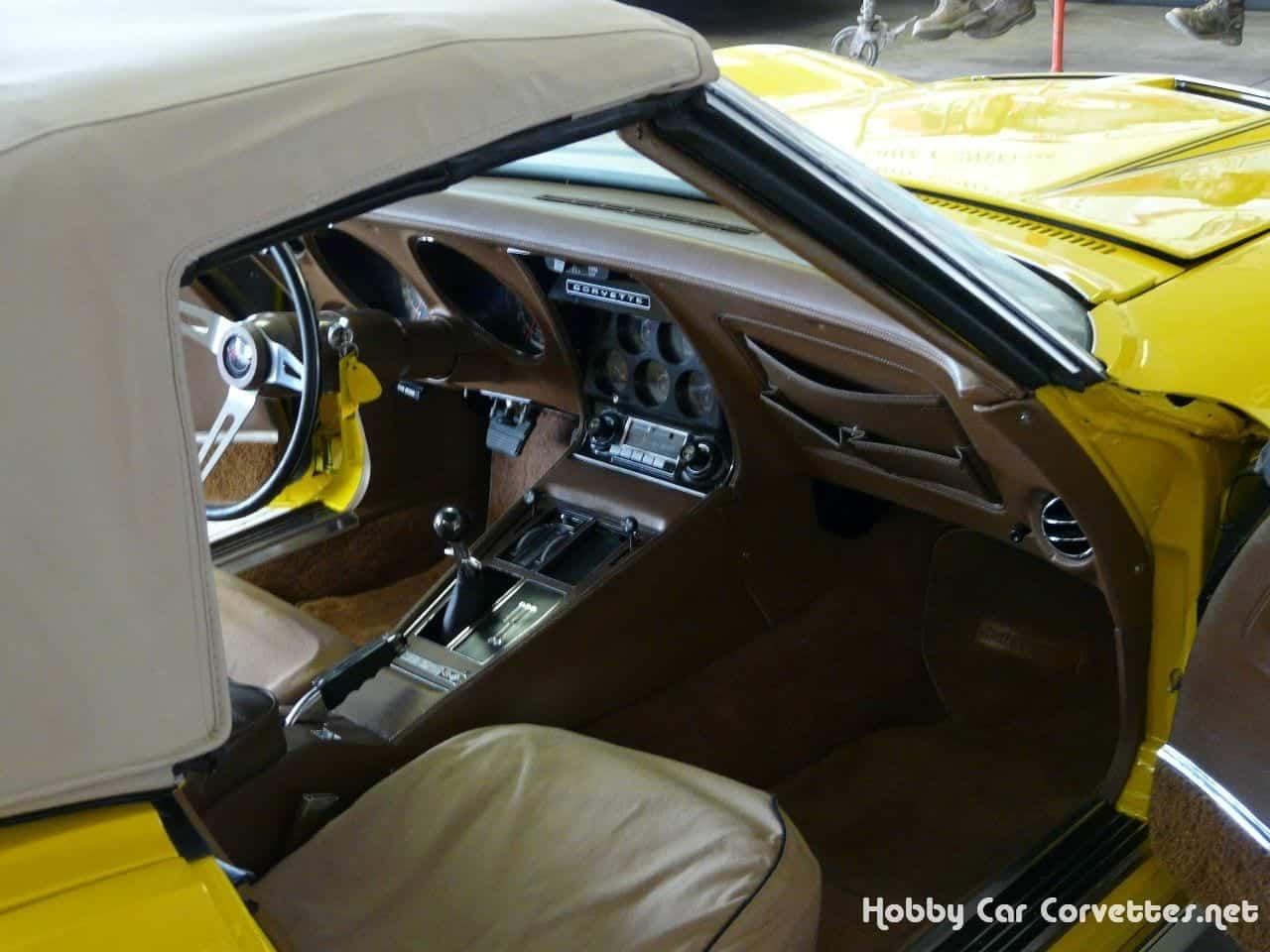 1972 Sunflower Yellow Corvette LT1 Convertible