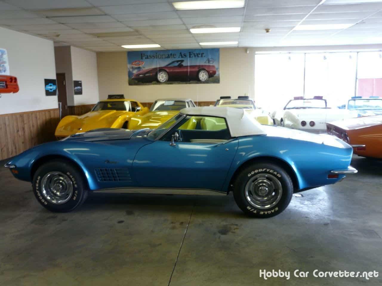 1971 Mulsanne Blue Corvette LT1 Convertible All Original