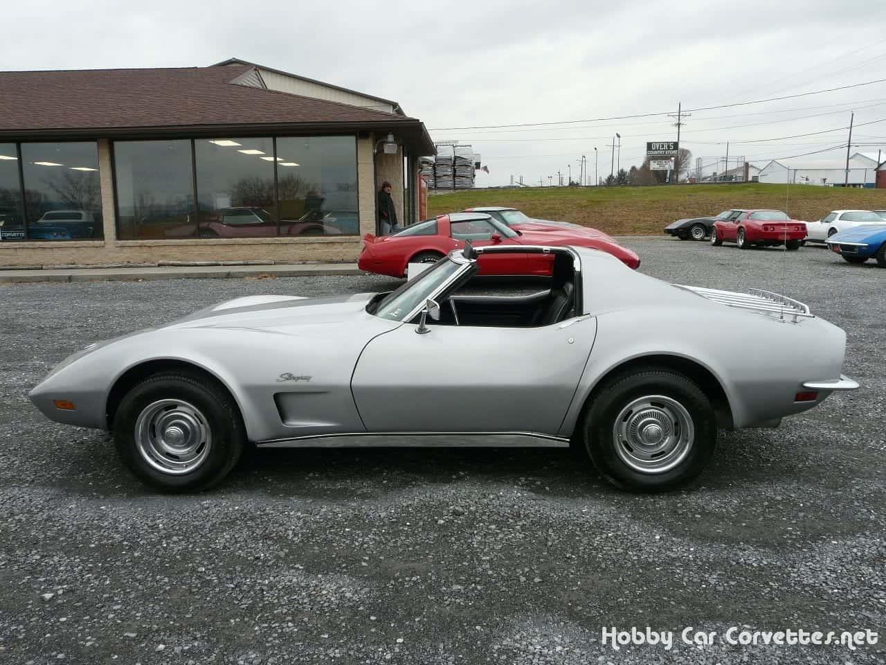 1973 Silver Corvette L82 Stingray T Top
