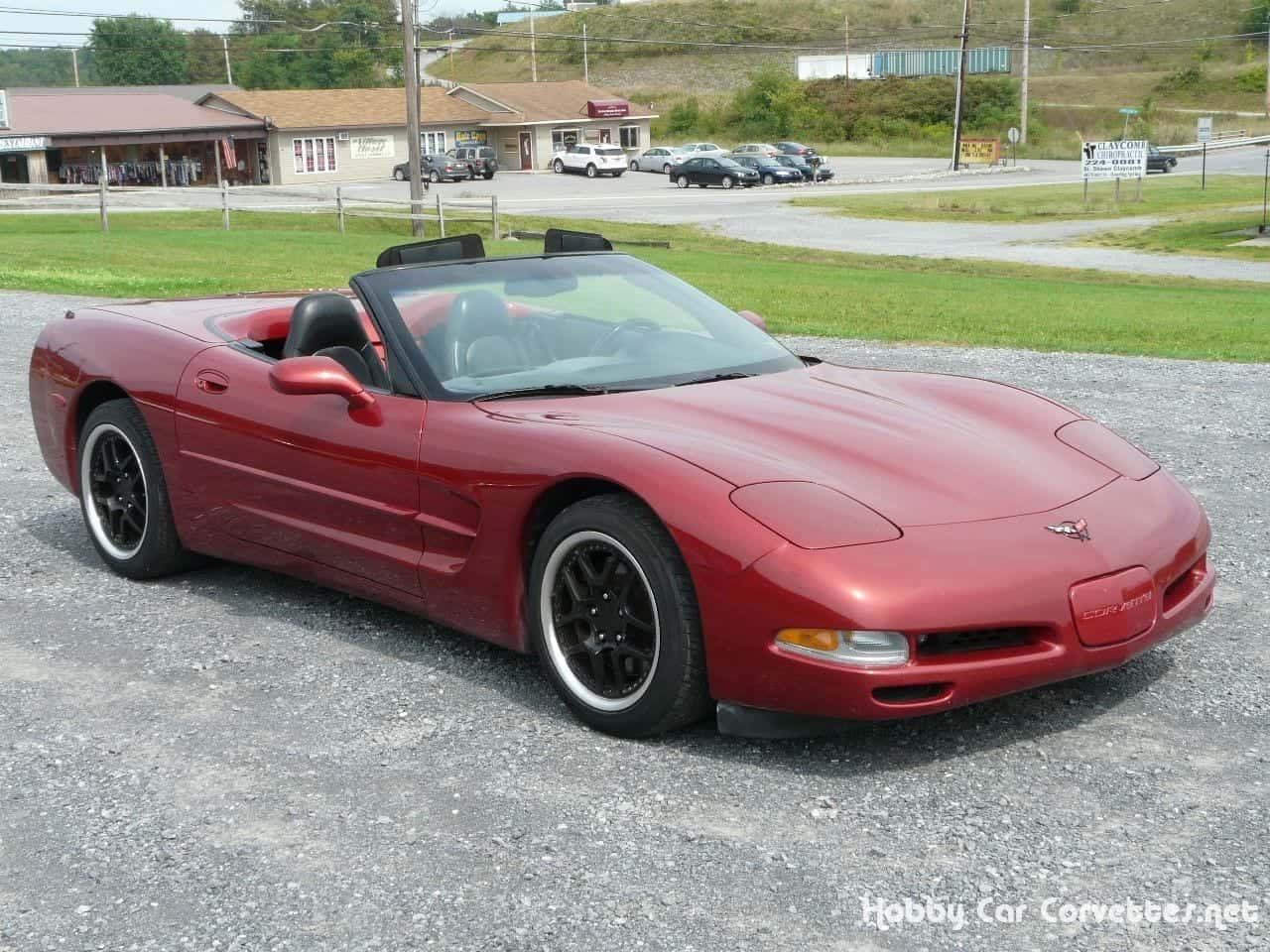 1998 Light Carmine Red Metallic Corvette Convertible
