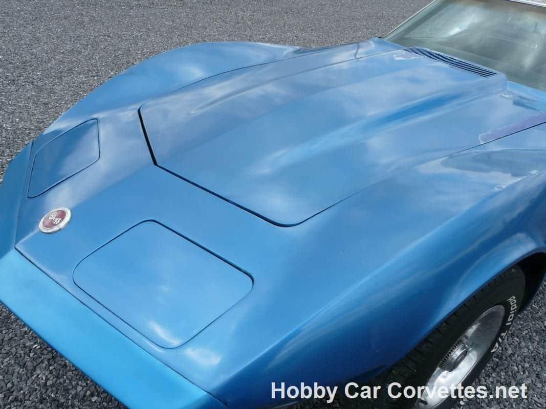 1973 Medium Blue Corvette L82 4spd Stingray T Top For Sale