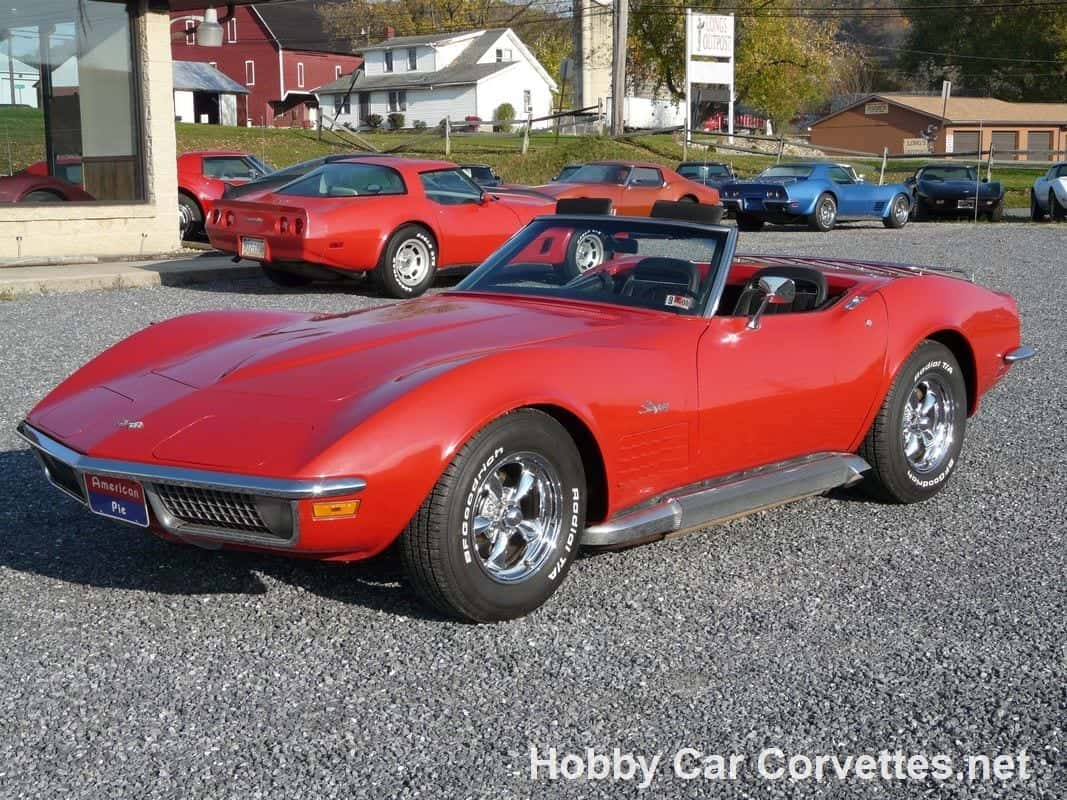 1970 Real Monza Red Corvette Stingray Convertible For Sale