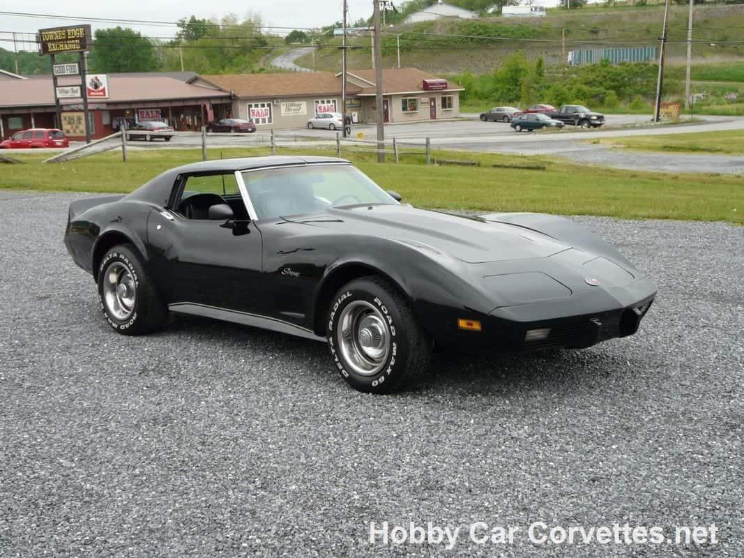 1976 Black Black Corvette Stingray For Sale