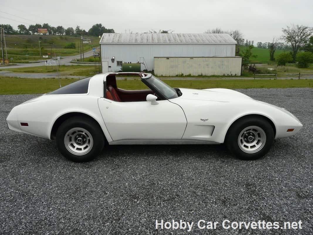 1978 White L82 Corvette Rare Cinnabar Int