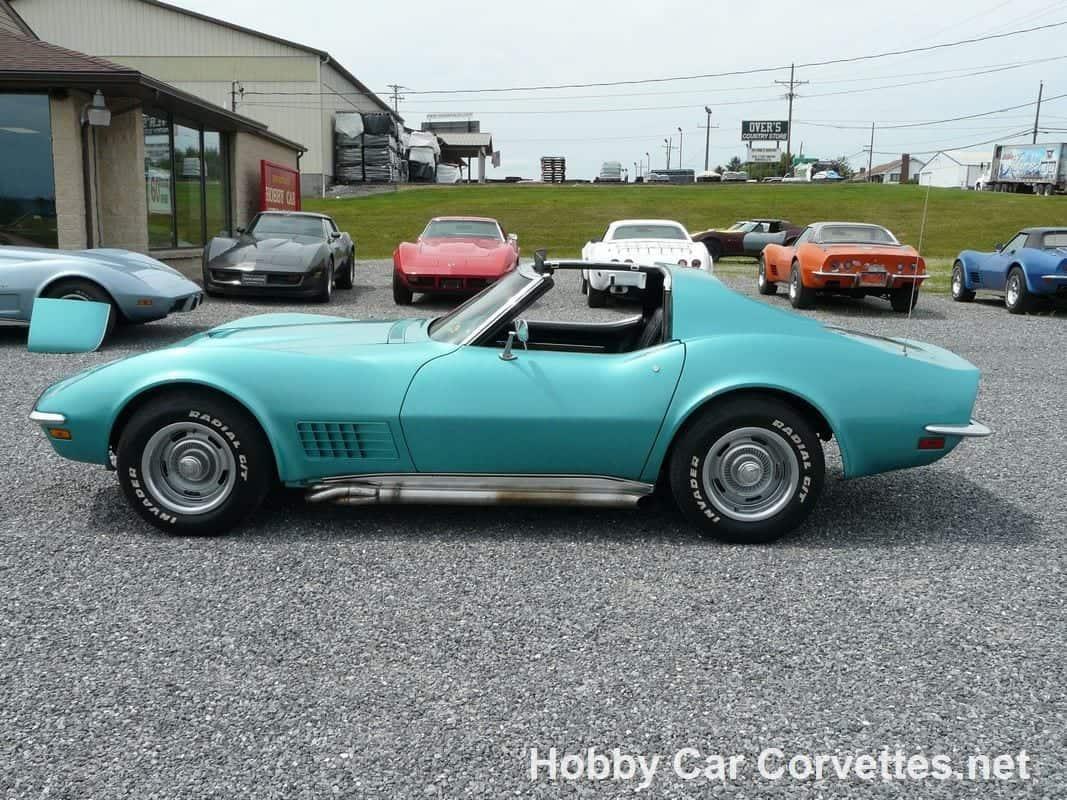 1971 Turquoise Corvette Big Block Stingray 4spd