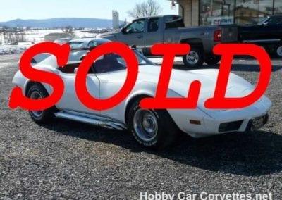1977 White L82 4spd Corvette Stingray For Sale Red Int