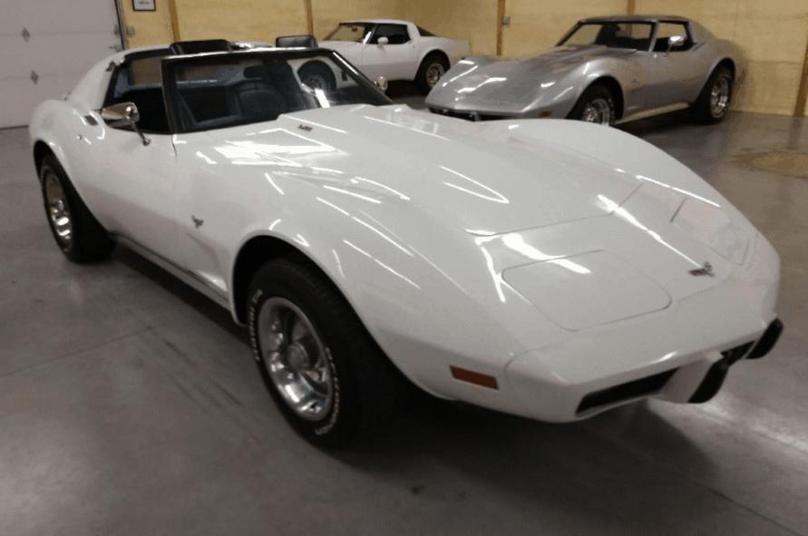 1977 White Corvette T Top Black Interior