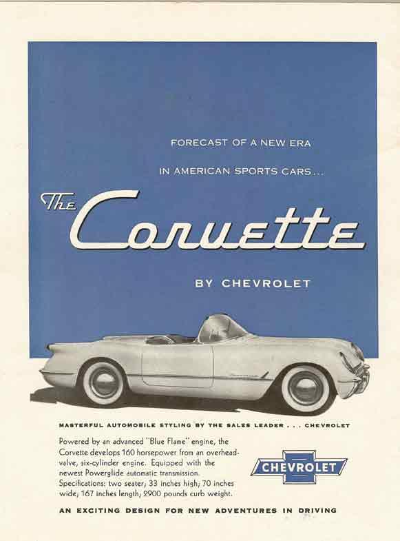 the corvette by chevrolet original advertisement
